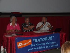 Marie-Françoise Palloix, Christian Roux et Christian Pellicani appellent à la mobilisation pour conserver les batobus si chèrement acquis.